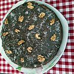 recette fondant à la crème marron, chocolat et noix