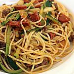 recette Spaghetti au Spaghetti..de Courgette