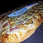 recette Fougasse *aux lardons champignons fromage* façon pizza
