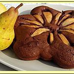recette Gâteau poires et chocolat