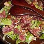 recette Mesclum aux gésiers de canards confits et aux cerneaux de noix