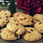 recette Cookies au beurre de cacahuète et au pépite de chocolat