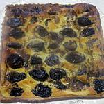 recette Tarte aux pruneaux d'Agen avec crème.