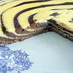 recette Cheesecake zébré choco/vanille (régime dukan)