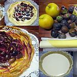 recette Tarte aux pommes et figues sur une crème.