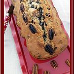 recette Cake moelleux crème de marrons, pépites de chocolat et noix de pécan