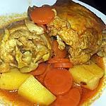 recette Ragoût de poulet a la sauce tomate