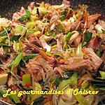 recette Wok de porc et de poireau à l'asiatique