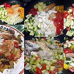 recette Poulet aux six légumes.
