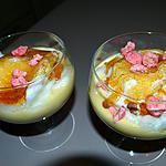 recette OEUFS EN NEIGE AUX PRALINES ROSES