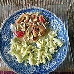recette blanquette   de poulet  au  x  crevettes , lait de coco..........de cap  délice  cathy  duvivier