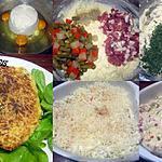 recette Clafoutis brousse de vache.légumes.lardons.