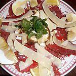 recette Carpaccio de boeuf aux cépes
