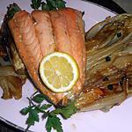 recette Filet de saumon aux endives et baies de geniévre