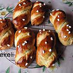 recette Petites brioches tressées