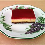 recette Bavarois vanille sur lit craquant, miroir framboise