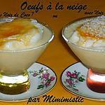 recette Oeufs à la neige (avec ou sans Noix de Coco ?)