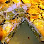 recette Quiche aux légumes  et bâtonnets de crabe