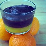 recette mousse au chocolat noir sur lit d'agrumes