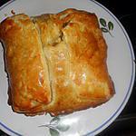 recette Feuilleté au saumon,crevettes et champignons