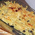 recette Gratin de macaroni aux champignons