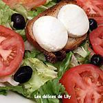 recette Salade chèvre et miel