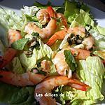 recette Salade de crevettes phla kung