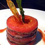 recette Tian de légumes et coulis de tomates au basilic...