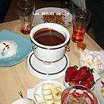 recette Brochettes de fruits, fondue de Nutella à la crème et aux Chamallows