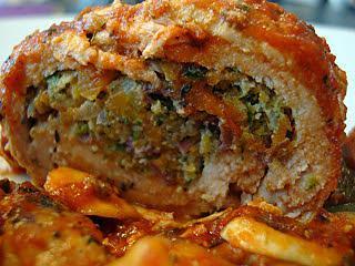 Recette de paupiettes de dinde farcies aux l gumes sauce tomate et champignons minceur - Recette de farce pour dinde ...