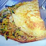 recette Omelette aux courgettes et aux champignons