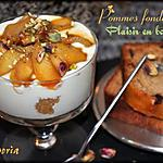 recette Tiramisu aux pommes - Cake aux épices, pépites de chocolat et au miel des montagnes