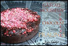 gâteau mousseux choco-fraise-pralines