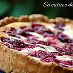 recette Tarte à la rhubarbe et framboises de Cathy