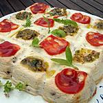 recette DAMIER AU BRUCCIO CORSE OLIVES BASILIC ET TOMATES CONFITES