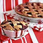 recette Cherry and Blueberry lattice pie