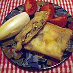 recette Mille - feuilles de pommes au fromage de chèvre