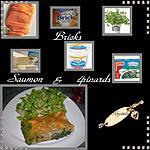 recette bricks saumon & épinards