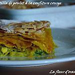 recette Pastilla de poulet à la confiture de courge