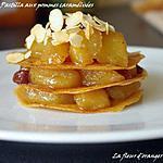 recette Pastilla aux pommes caramélisées
