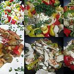 recette Émincé de poulet poêlé de légumes.