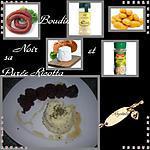 recette Boudin noir & sa purée ricotta épicée