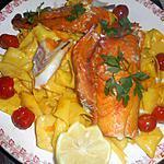 recette Filet de haddock pappardelles au safran