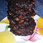 recette Galettes de riz noir au pesto et tomates confites