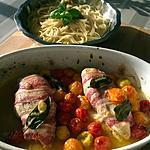 recette Blancs de Poulet Concassée de tomates et Lard Fumé