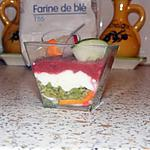 mousse d\avocat : recette mousse de betteraves, chèvre et avocat en verrines