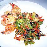 recette Mélange de légume wok aux crevettes