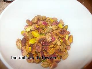 Recette de m 39 fened aux pistaches - Calories pistaches grillees ...