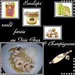 recette escalope roulée farcie au foie gras
