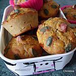 recette Muffins butternut, farine de châtaigne, noisettes et sirop d'agave